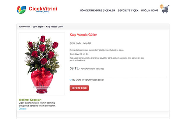 Çicek Vitrini - Çicek Satış Portalı
