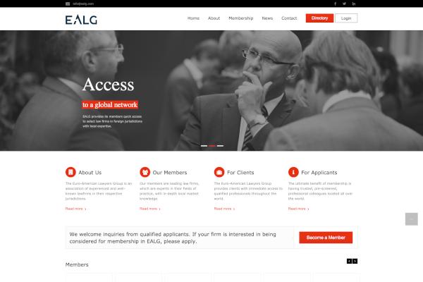 Euro-American Lawyers Group Web Portalı